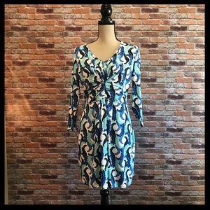 Boden Leaf Print Dress